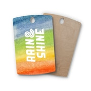 East Urban Home Birchwood Rain & Shine Rainbow Abstract Cutting Board; Rectangle