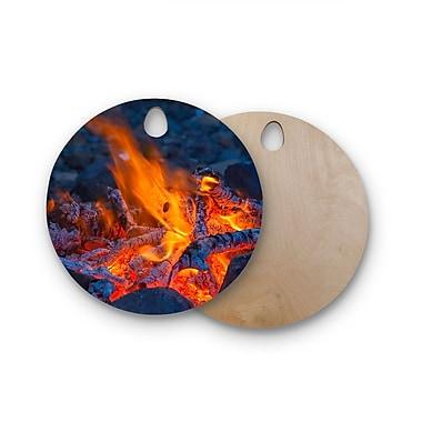 East Urban Home Birchwood Hot Cutting Board; Round