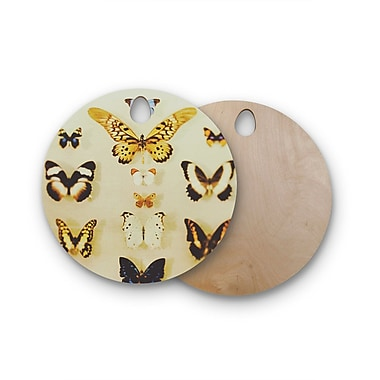 East Urban Home Chelsea Victoria Birchwood The Butterfly Collection Photography Cutting Board; Round