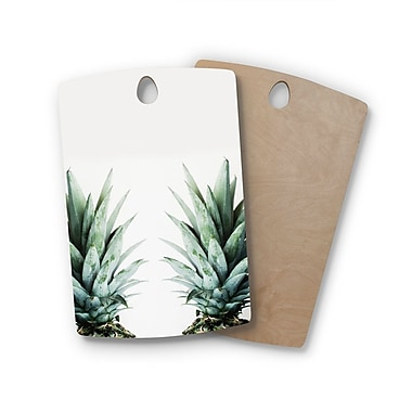 East Urban Home Chelsea Victoria Birchwood Two Pineapples Cutting Board; Rectangle