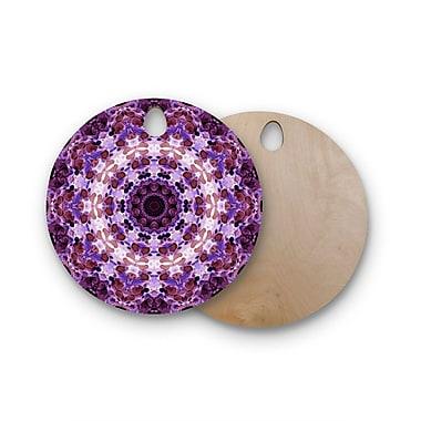 East Urban Home Iris Lehnhardt Birchwood Mandala III Cutting Board; Round