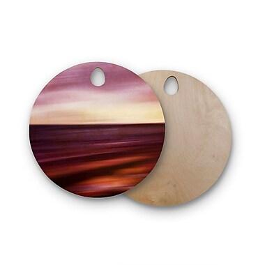 East Urban Home Iris Lehnhardt Birchwood Seascape Sunset Cutting Board; Round