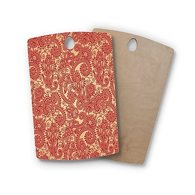 East Urban Home Fotios Pavlopoulos Birchwood Floral Loop Cutting Board; Rectangle