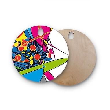 East Urban Home Frederic Levy-Hadida Birchwood Pop Overload 2 Digital Cutting Board; Round