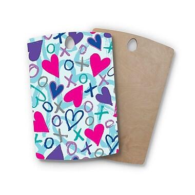 East Urban Home Emine Ortega Birchwood Heart a Flutter Cutting Board; Rectangle