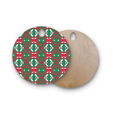 East Urban Home Empire Ruhl Birchwood Christmas Geo Cutting Board; Round