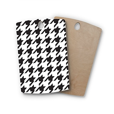 East Urban Home Empire Ruhl Birchwood Spacey Houndstooth Cutting Board; Rectangle