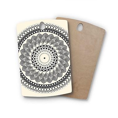 East Urban Home Famenxt Birchwood Boho Mandala Geometric Cutting Board; Rectangle