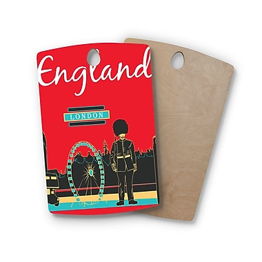 East Urban Home Famenxt Birchwood London England Cutting Board; Rectangle