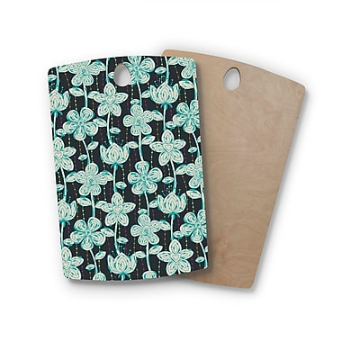 East Urban Home Julia Grifol Birchwood My Spotted Flowers Cutting Board; Rectangle