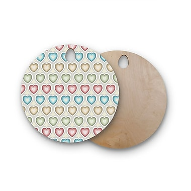 East Urban Home Julia Grifol Birchwood My Hearts Multi Cutting Board; Round