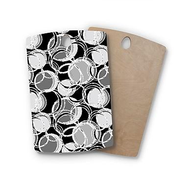 East Urban Home Julia Grifol Birchwood Simple Circles Cutting Board; Rectangle
