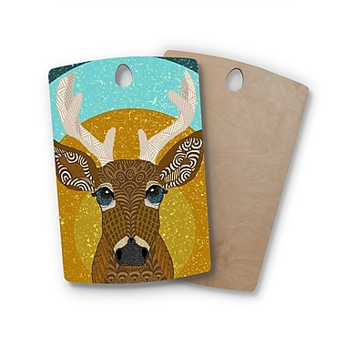 East Urban Home Art Love Passion Birchwood Stag; Rectangle