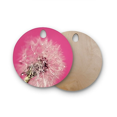 East Urban Home Beth Engel Birchwood Twilight Magenta Dandelion Cutting Board; Round