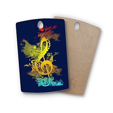East Urban Home Frederic Levy-Hadida Birchwood Sound of Nature Music Cutting Board; Rectangle