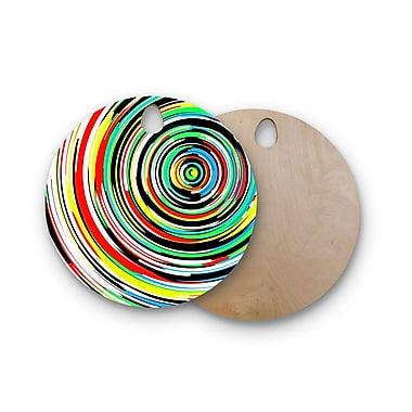 East Urban Home Frederic Levy-Hadida Birchwood Swoosh 3 Digital Cutting Board; Round