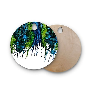 East Urban Home Claire Day Birchwood Drops Cutting Board; Round