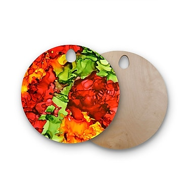 East Urban Home Claire Day Birchwood One Love Cutting Board; Round