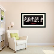 East Urban Home 'Thinker (Quintet): Peace, Power, Respect, Dignity, Love' Framed Memoribilia on Wood