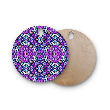 East Urban Home Art Love Passion Birchwood Kaleidoscope Dream Continued Cutting Board; Round