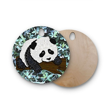 East Urban Home Art Love Passion Birchwood Panda Cutting Board; Round