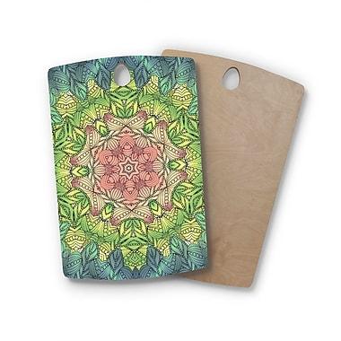 East Urban Home Art Love Passion Birchwood Celtic Flower Cutting Board; Rectangle