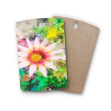 East Urban Home Alyzen Moonshadow Birchwood Wildflower Mottled Background Digital Cutting Board
