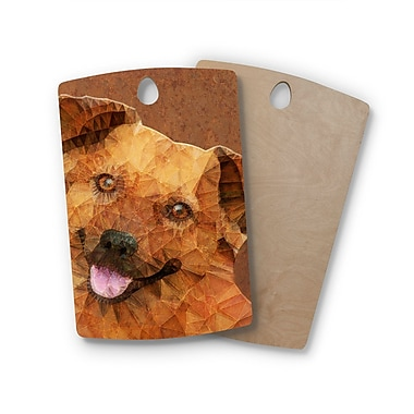 East Urban Home Ancello Birchwood Abstract Puppy Geometric Cutting Board; Rectangle