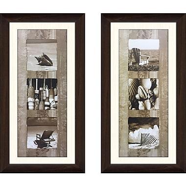 Highland Dunes 'Coastal Panel II' 2 Piece Framed Photographic Print Set