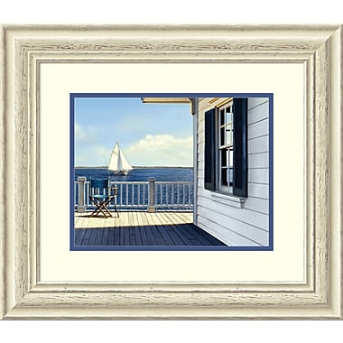 Highland Dunes 'On the Bay' Framed Print on Wood