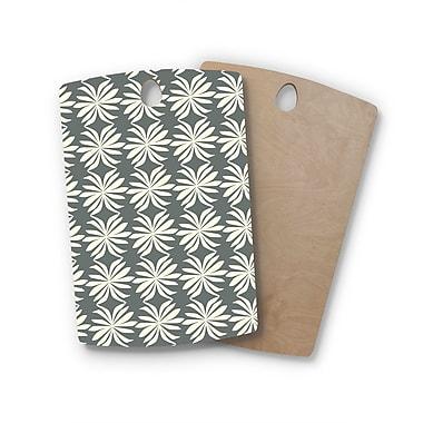 East Urban Home Amy Reber Birchwood Palm Pattern Cutting Board; Rectangle