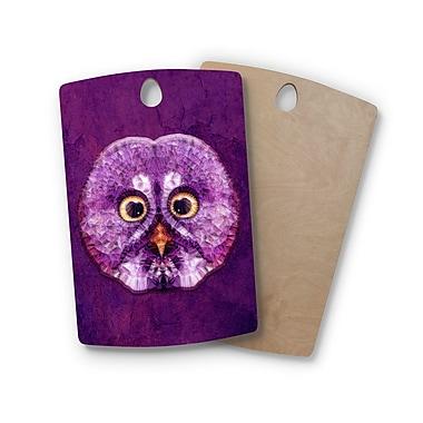 East Urban Home Ancello Birchwood Hoot! Owl Cutting Board; Rectangle