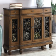Fleur De Lis Living Cedarville Traditional Hallway 3 Drawer Accent Cabinet; Cherry