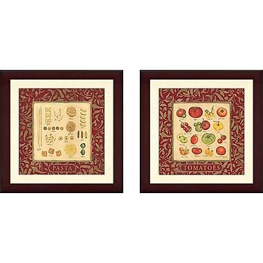 Fleur De Lis Living 'Tomatoe Varieties' 2 Piece Framed Graphic Art Print Set