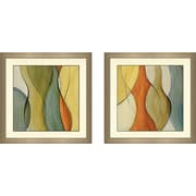 George Oliver 'Coalescence II' 2 Piece Framed Acrylic Painting Print Set