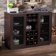 Gracie Oaks Renelso Industrial Server; Walnut