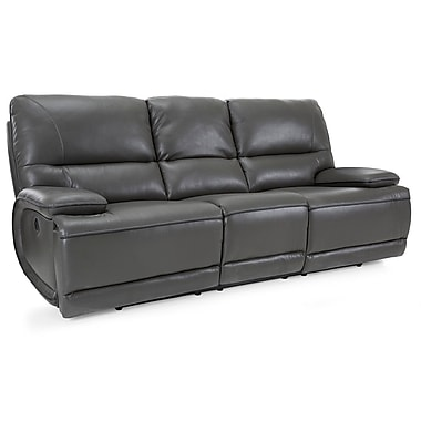 Latitude Run Akirah Leather Reclining Sofa
