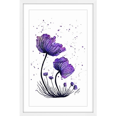 Latitude Run 'Expansion of Beauty' Framed Watercolor Painting Print; 60'' H x 40'' W