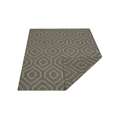 Latitude Run Ry Carpet Flat Weave Hand Knotted Kelim Wool Grey Area Rug