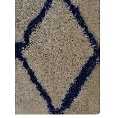 Latitude Run Ry Hand Tufted White/Blue Area Rug