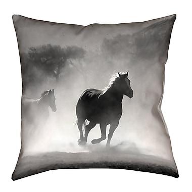 Latitude Run Aminata Galloping Horses Square Double Sided Print Throw Pillow; 36'' x 36''