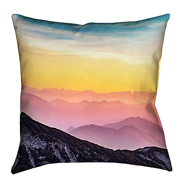 Latitude Run Thang Pastel Landscape Double Sided Print Square Throw Pillow w/ Insert; 28'' x 28''