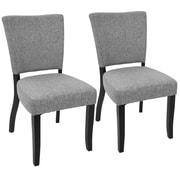 Latitude Run Tuyet Side Chair (Set of 2); Light Gray