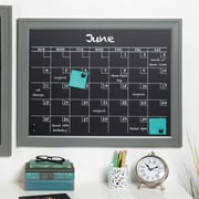 Ivy Bronx Framed Monthly Calendar Magnetic Wall Mounted Chalkboard