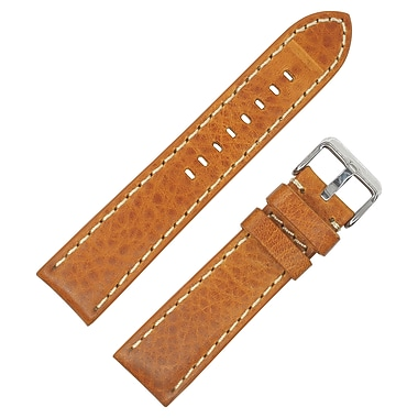 Dakota 20mm Tan Thick Padded Oil Tanned Shrunken Leather Strap (11819)