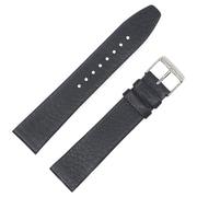 Dakota 20mm Black Slimpad Shrunken Geniune Leather Strap (11141)