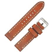 Dakota 20mm Tan Beefy Geniune Leather Band With Contrast Stitch Strap (17136)
