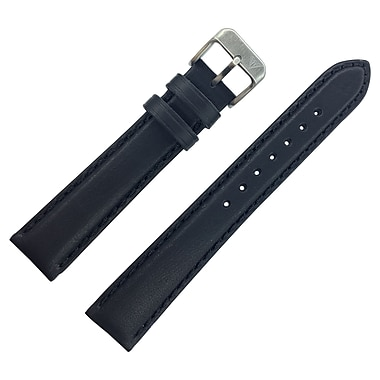 Dakota 20mm Black Oil Tanned,Soft Padded Geniune Leather Strap (19706)