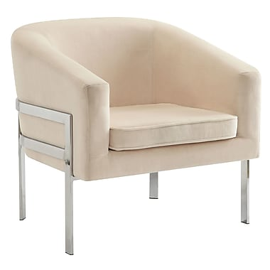 Orren Ellis Jereme Barrel Chair; Beige
