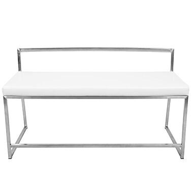 Orren Ellis Ai Upholstered Entryway Bench; White